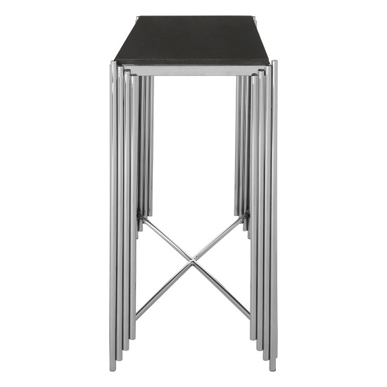 Knudson Granite Top Console Table With Stainless Steel Frame_3