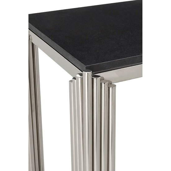 Knudson Granite Top Console Table With Stainless Steel Frame_4