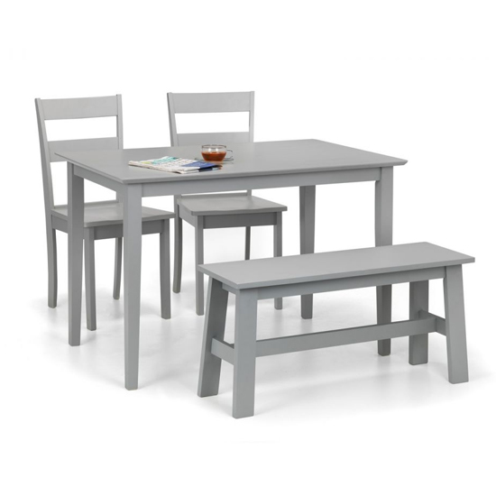 Kobe Dining Set In Lunar Grey With Bench And 2 Chairs_2