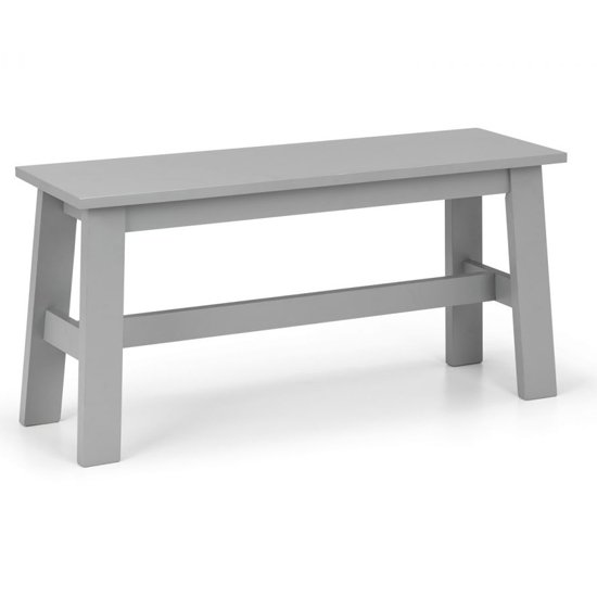 Kobe Wooden Dining Bench In Lunar Grey