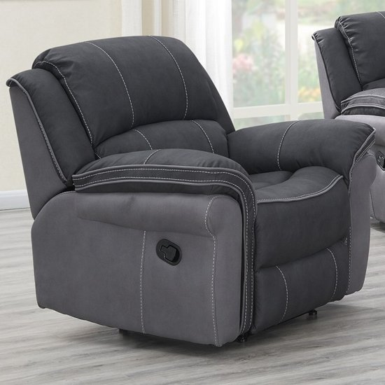 Koeia Fabric Lounge Chaise Armchair In Charcoal Fusion_1