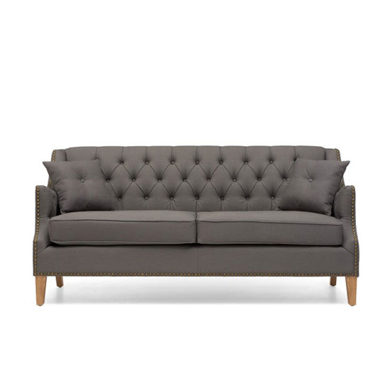 Kosmo 3 Seater Sofa In Grey Fabric With Natural Ash Legs_4