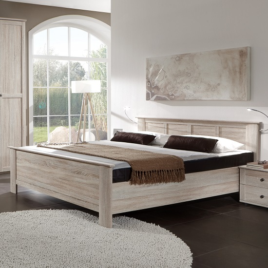 Krefeld Wooden Double Bed In Oak Effect