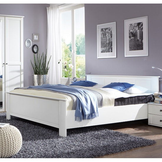 Krefeld Wooden Single Bed In White