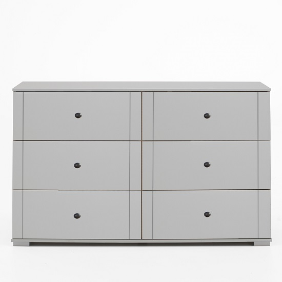 Krefeld Wooden Chest Of Drawers In White With 6 Drawers