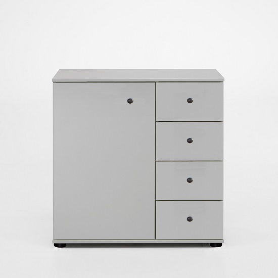 Krefeld Wooden Chest Of Drawers In White With 4 Drawers