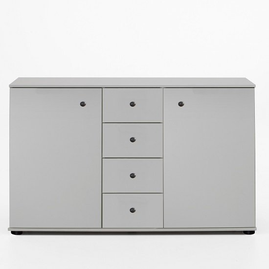Krefeld Sideboard In White With 2 Doors And 4 Drawers