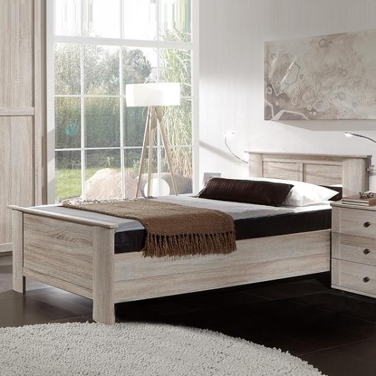 Krefeld Wooden Single Bed In Oak Effect