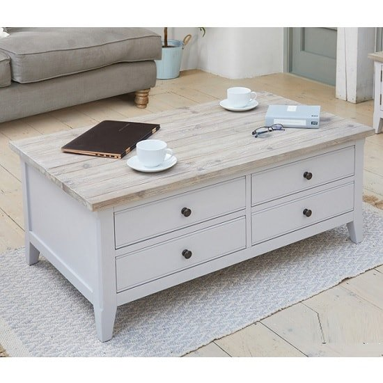 Krista Wooden Coffee Table In Grey With Flip Top And 4 Drawers_1