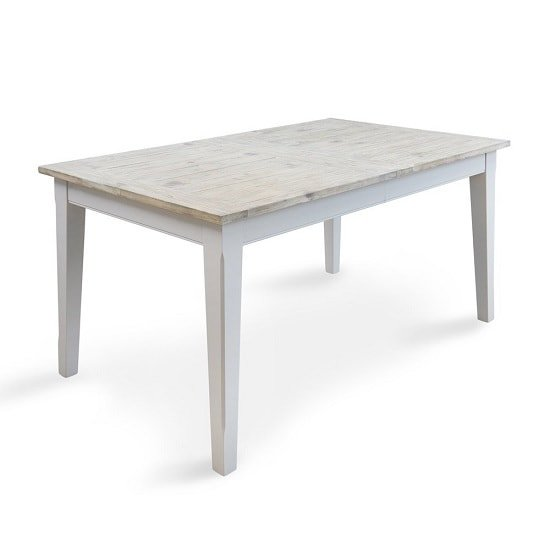 Krista Wooden Extendable Dining Table Rectangular In Grey