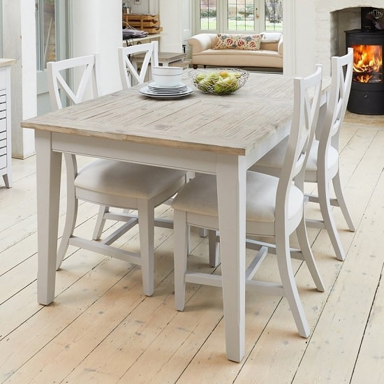 Krista Wooden Extendable Dining Table Rectangular In Grey_2