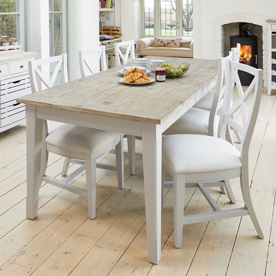 Krista Wooden Extendable Dining Table Rectangular In Grey_3