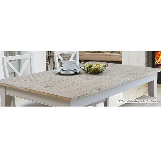 Krista Wooden Extendable Dining Table Rectangular In Grey_5