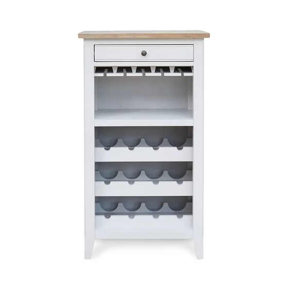 Krista Wooden Wine Rack In Grey With 1 Drawer_4