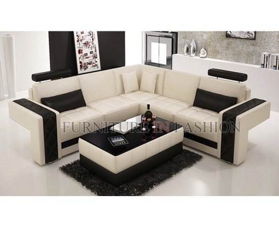 Soft Leather Corner Sofa Faux