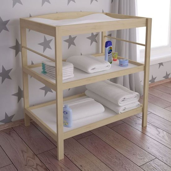Kudl Kids Wooden Changing Table In Natural