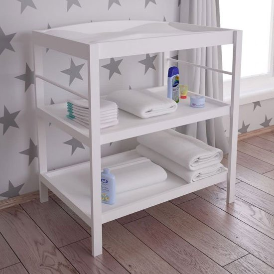 Kudl Kids Wooden Changing Table In White