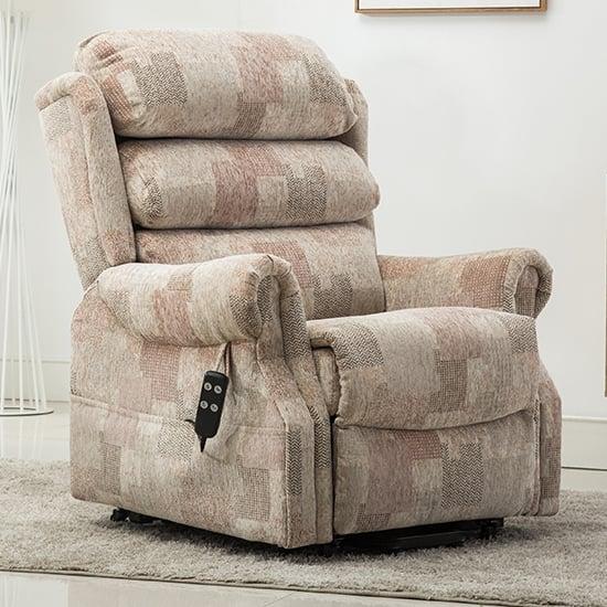 View Ladbroke fabric electric recliner chair in autumn mosiac