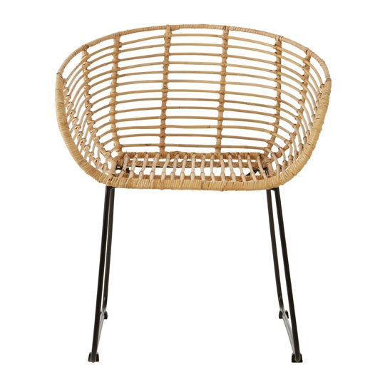 View Gienah kubu rattan rounded bedroom chair in natural
