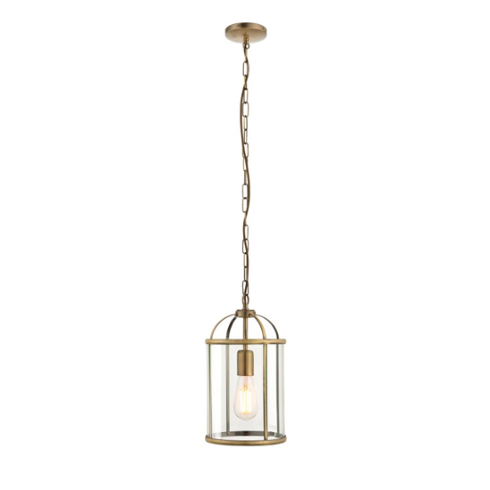 Lambeth Wall Hung 1 Pendant Light In Antique Brass