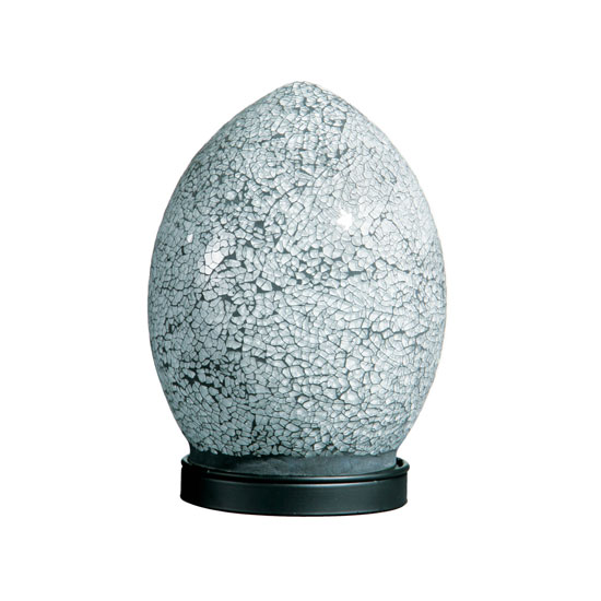 Mosaic White and Black Color Egg Lamp