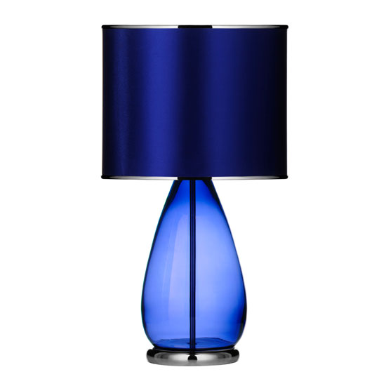 Sapphire Glass Ovate Table Lamp