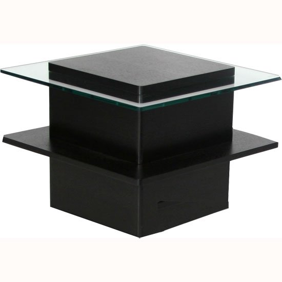 Hong kong black ash wood veneer side lamp table 11373 for Black wood end tables
