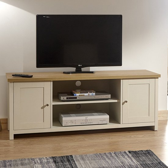 Valencia Wooden Large TV Unit In Cream_1