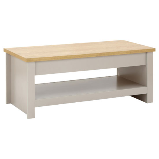 Valencia Wooden Lift Up Coffee Table In Grey And Oak_3