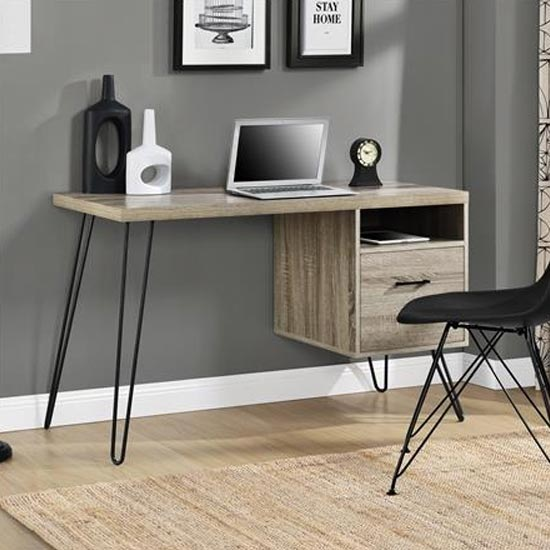 Landon Wooden Laptop Desk In Distressed Grey Oak_2