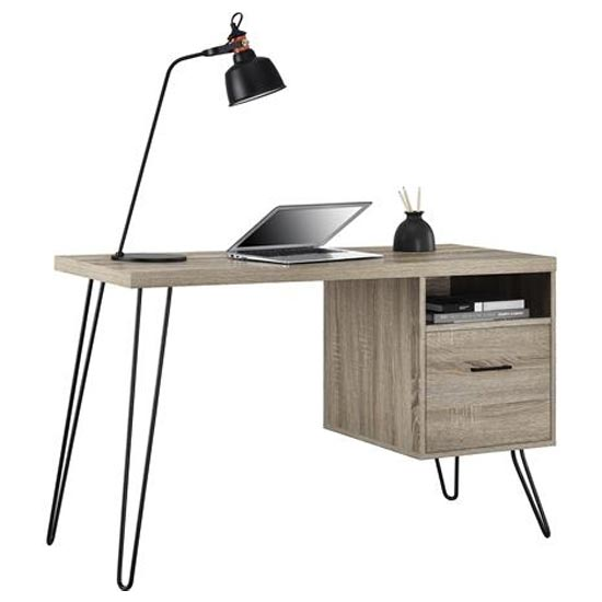Landon Wooden Laptop Desk In Distressed Grey Oak_3
