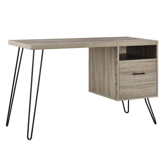 Landon Wooden Laptop Desk In Distressed Grey Oak_4