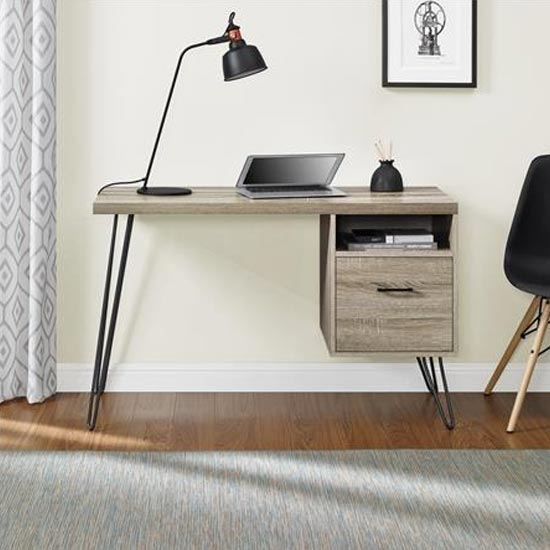 Landon Wooden Laptop Desk In Distressed Grey Oak_1
