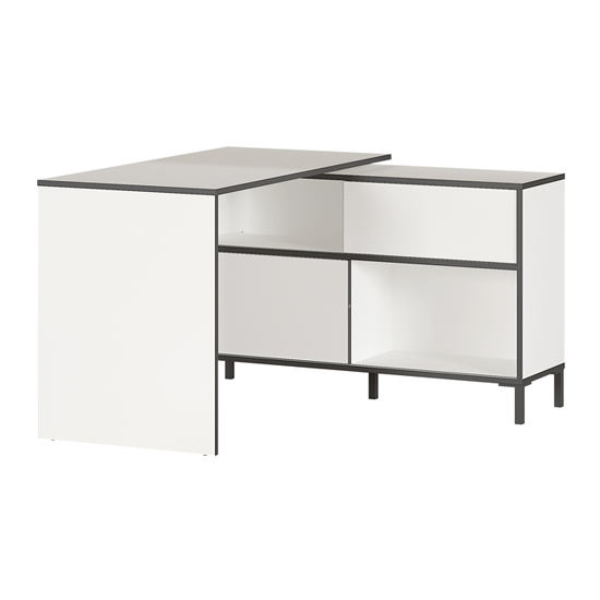 Laredo Laptop Desk With Storage In White And Black