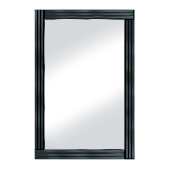 Black Panel 120x80 Large Mirror