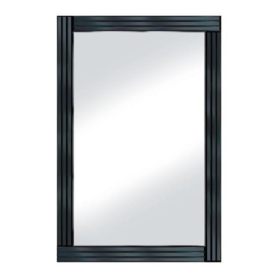 Black Panel 120x80 Large Mirror