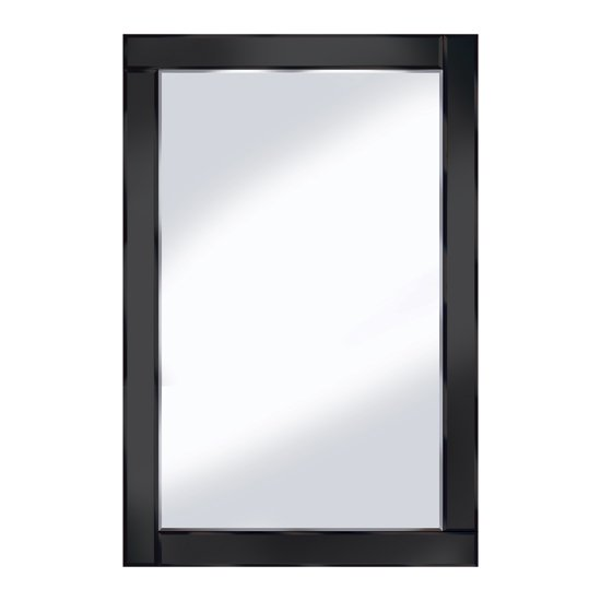 Bevelled Black 120x80 Large Wall Mirror