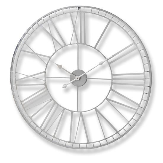 View Lariat skeleton metal wall clock in grey