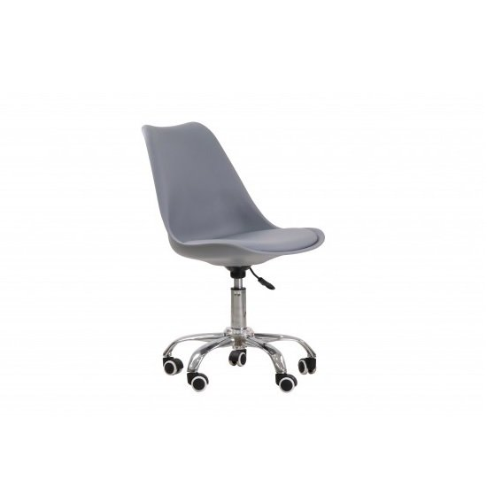 Larsson Swivel Home Office Chair In Grey