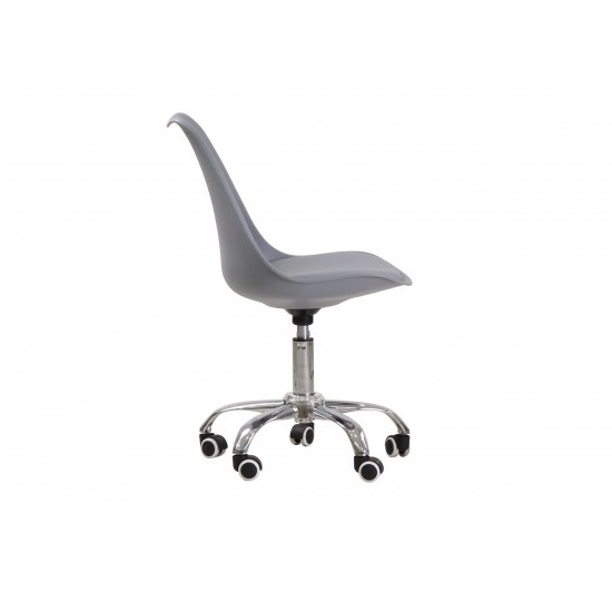 Larsson Swivel Home Office Chair In Grey_2