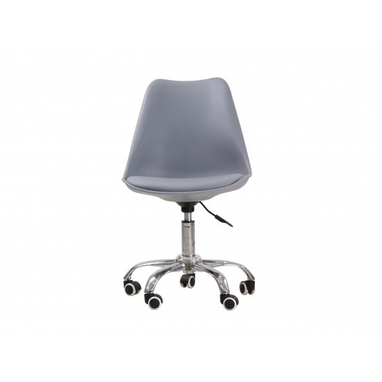 Larsson Swivel Home Office Chair In Grey_3