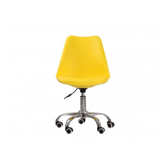 Larsson Swivel Home Office Chair In Yellow_2