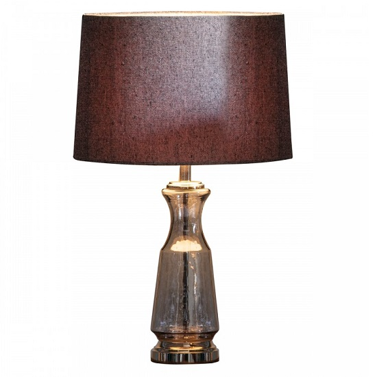 Lastrea Table Lamp With Textured Glass Base