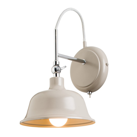 Laughton Wall Light In Chrome And Cream