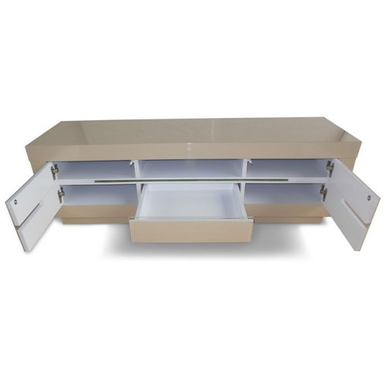 Laurent Contemporary TV Stand In Cream High Gloss With LED_2