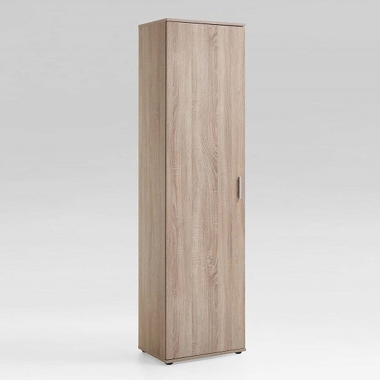 Lausanne Tall Multipurpose Storage Cupboard In Canadian Oak
