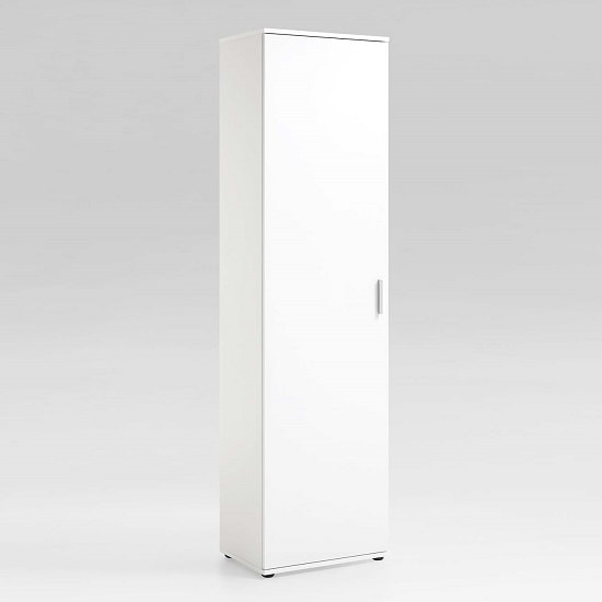 Lausanne Tall Multipurpose Storage Cupboard In White_1