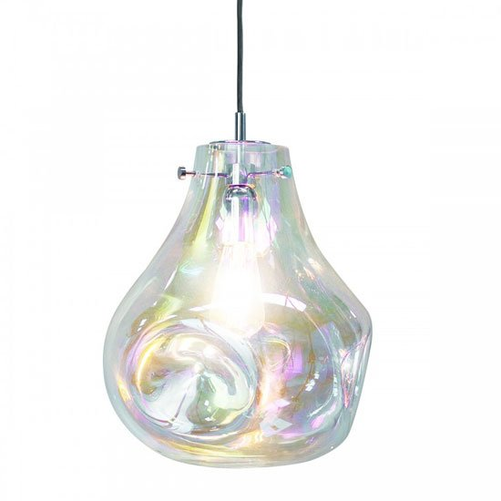 Lava Wall Hung Pendant Light In Clear