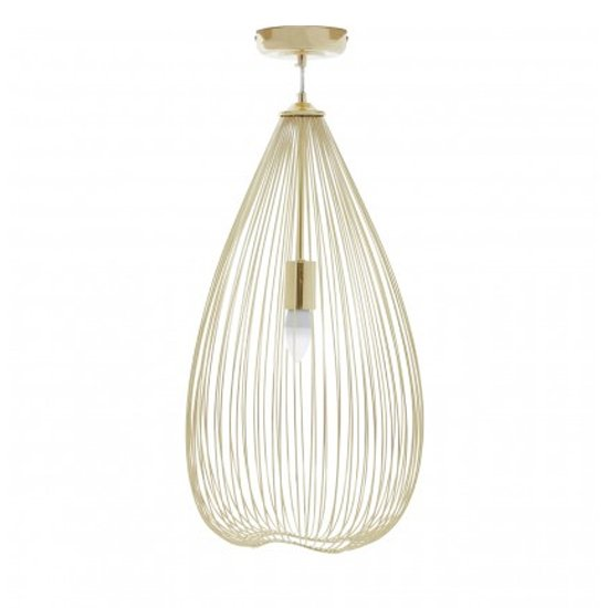 Laves Iron 1 Pendant Light In Gold