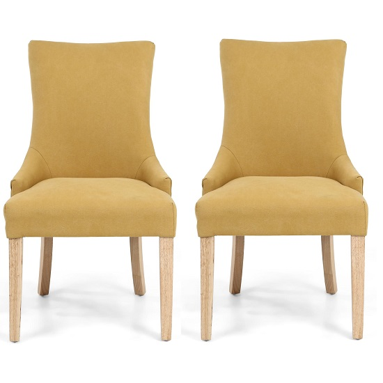 Lavinia Accent Chair In Jonquil Yellow In A Pair